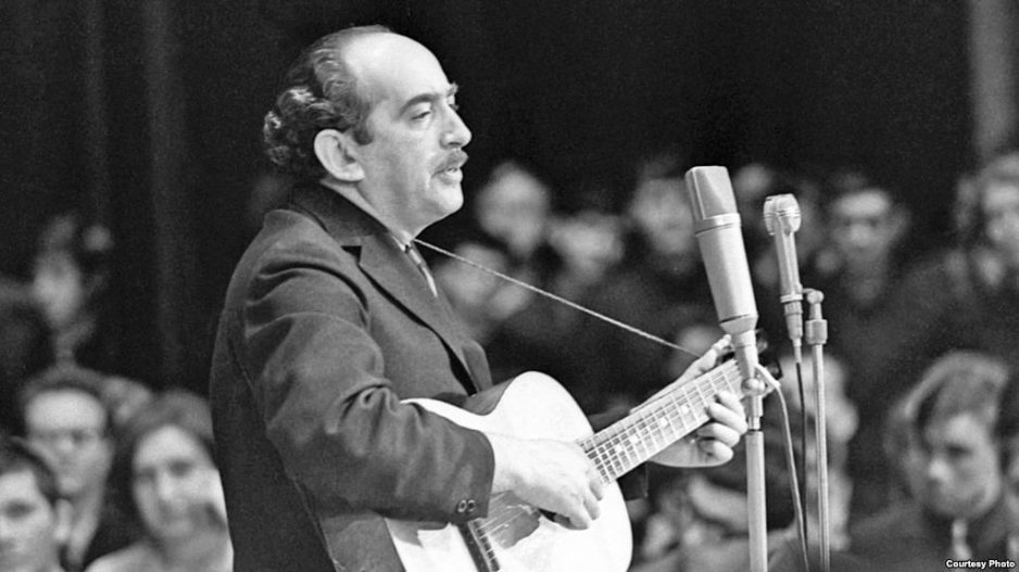 Aleksandr Galich vystuplenie v Novosibirske. 1968 god. Foto V. Davydova s sajta Radio Svoboda.