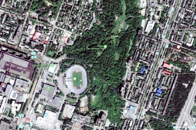 Park Zelenyj Gaj so sputnika