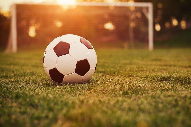 soccer football sunset