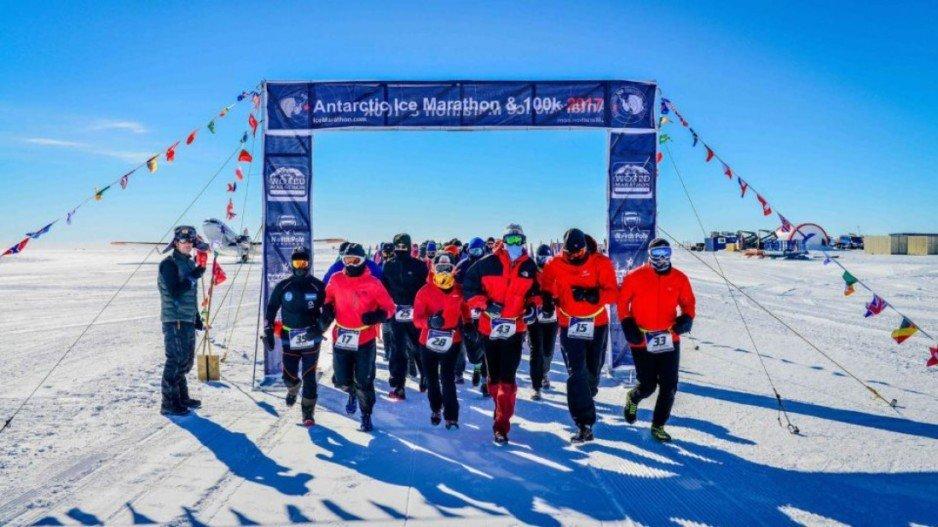 В Антарктиде прошел суровейший забег в мире