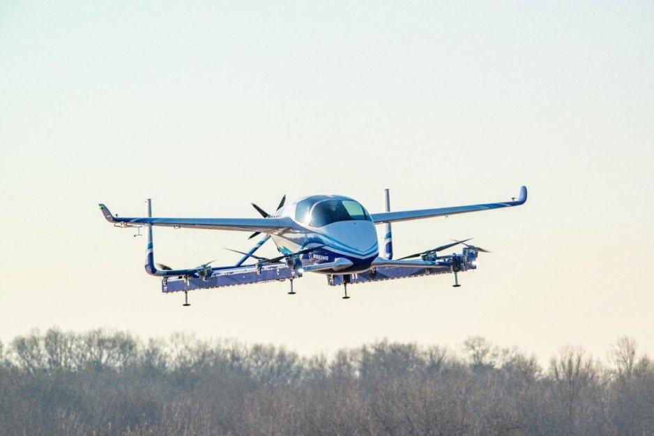 Компания Boeing провела испытания беспилотного аэротакси