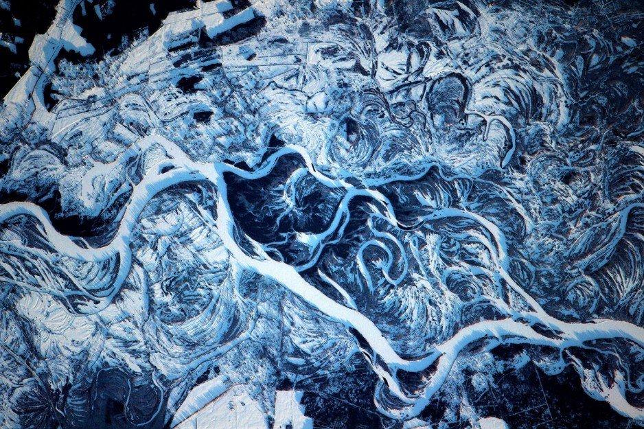 В NASA показали, как выглядит Днепр из космоса