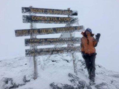 Девушка из Кривого Рога покорила самую высокую гору Африки