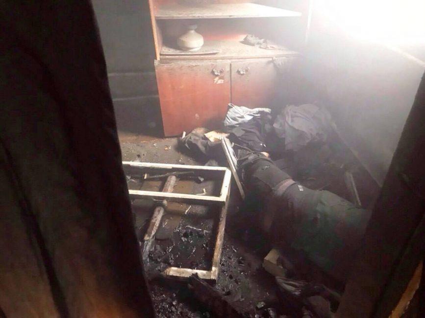 В Новомосковском районе на пожаре погиб мужчина