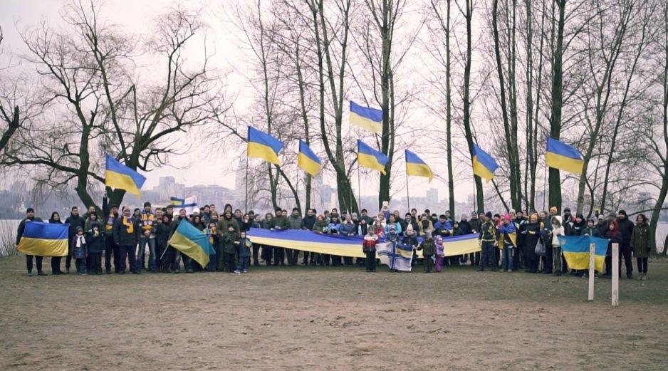 В Днепре состоялся флешмоб в поддержку пленных украинских моряков
