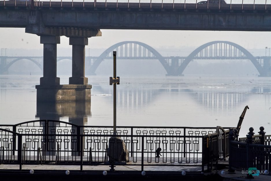 Dnepr most voda reka