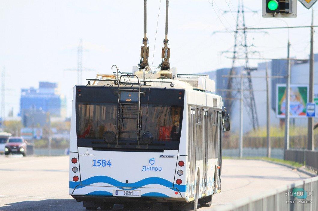 В Днепре завтра изменится движение троллейбусов