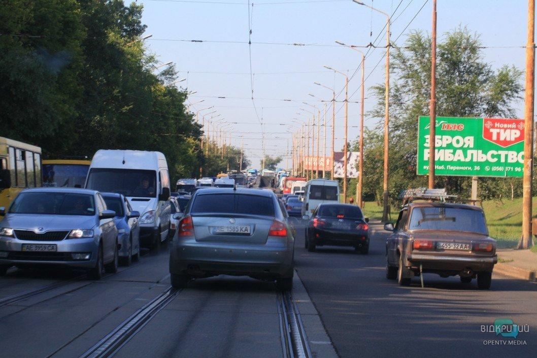 На каких улицах Днепра сейчас пробки