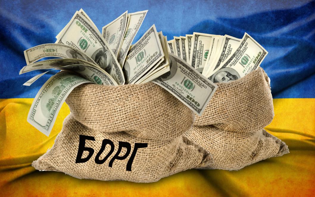 За липень 2019 державний борг України зріс на два мільярди доларів