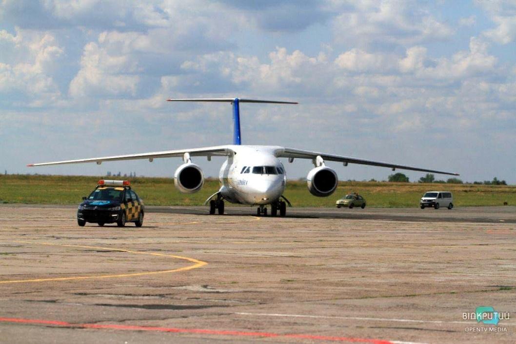 Підготовка проєкту нової злітної смуги аеропорту Дніпра призупинена