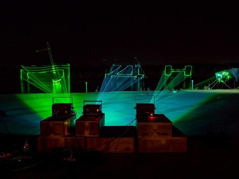 У Дніпрі до Дня міста готують унікальне лазерне шоу над річкою