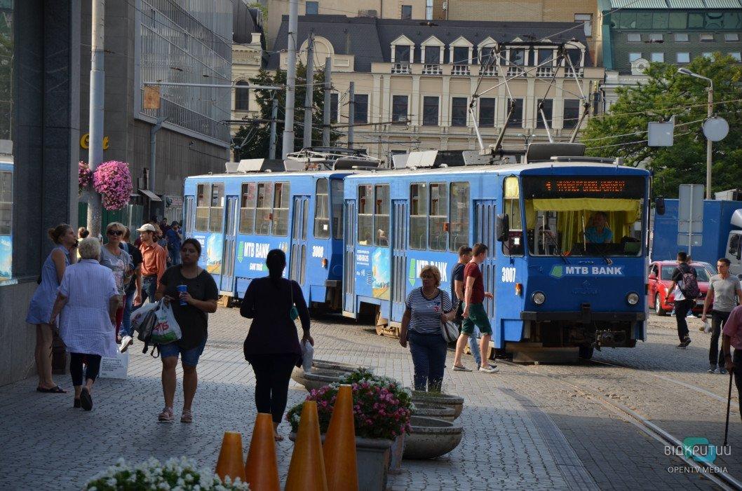 В Днепре в понедельник и во вторник вечером не будет ходить трамвай №1