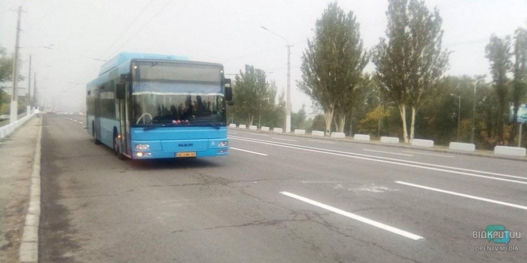 В Днепре для автобусов открыли проезд через Новый мост