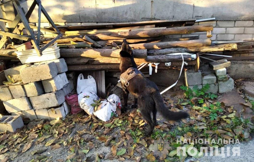 В Днепре служебный пес нашел наркотики и боеприпасы
