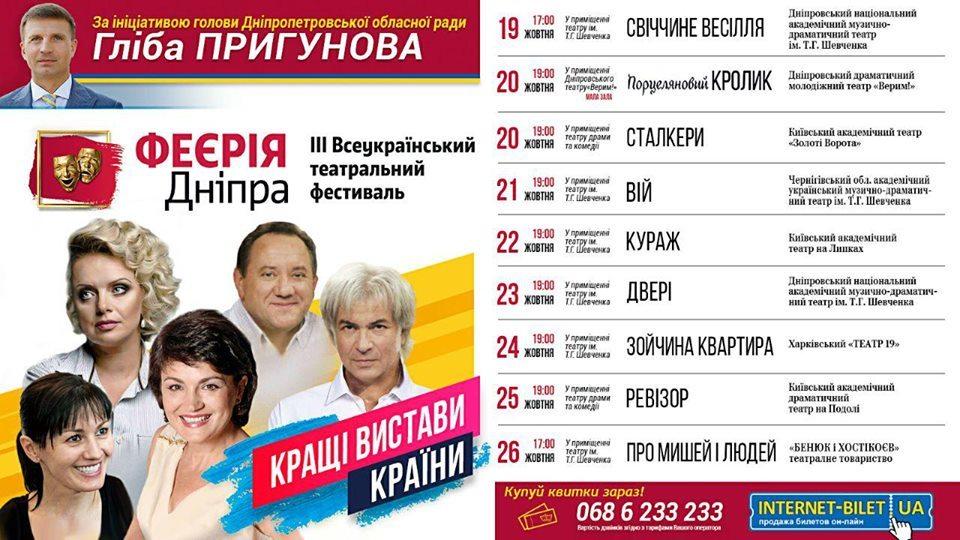В Днепропетровской области стартует масштабный театральный фестиваль