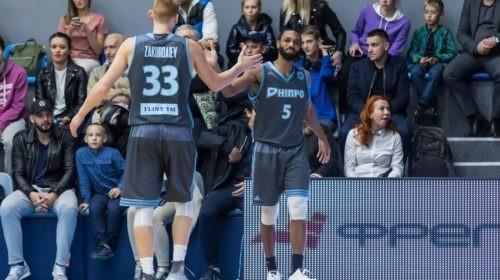 Баскетбольный клуб «Днепр» обыграл на выезде беларуский «Борисфен»