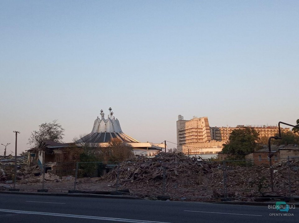 Ради очередного ТРЦ уничтожили исторический квартал в центре Днепра