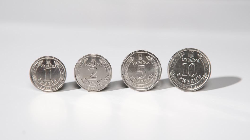 Обновленный дизайн монет номиналом 1, 2, 5 и 10 гривен. 2019 год.