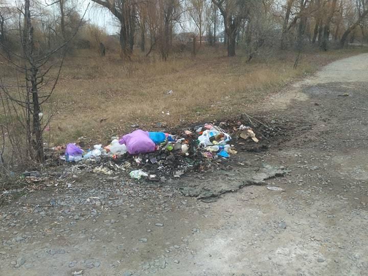 Последствия возгорания мусорных баков на Березановке.