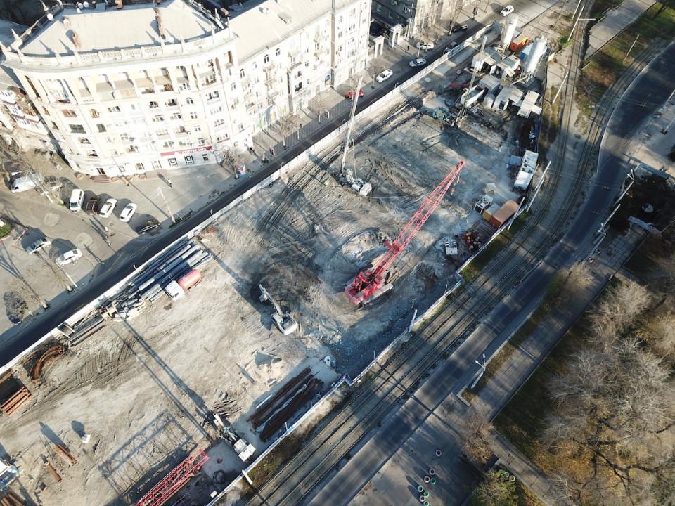 Как строят метро в Днепре: свежие фото с дрона