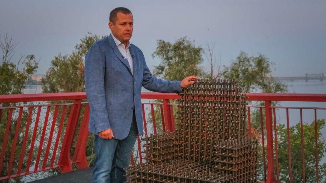 """Борис Филатов открывает """"Новый мост"""" после реконструкции."""