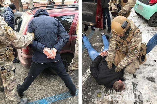 Спецоперация КОРД по задержанию банды вымогателей в Днепре.