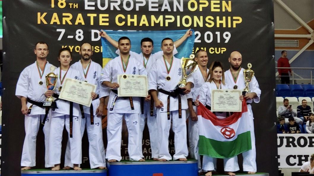 Спортсмены из Днепра и области стали чемпионами Европы по каратэ