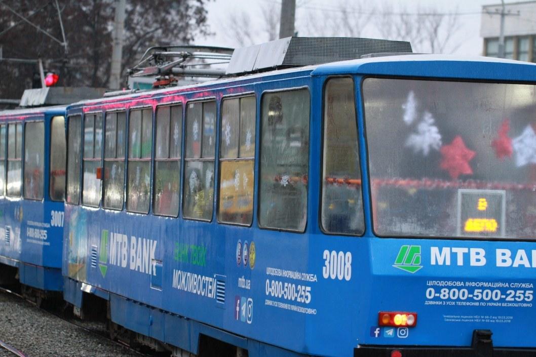 В Днепре городские трамваи №18 и №19 изменят движение 8 и 9 января