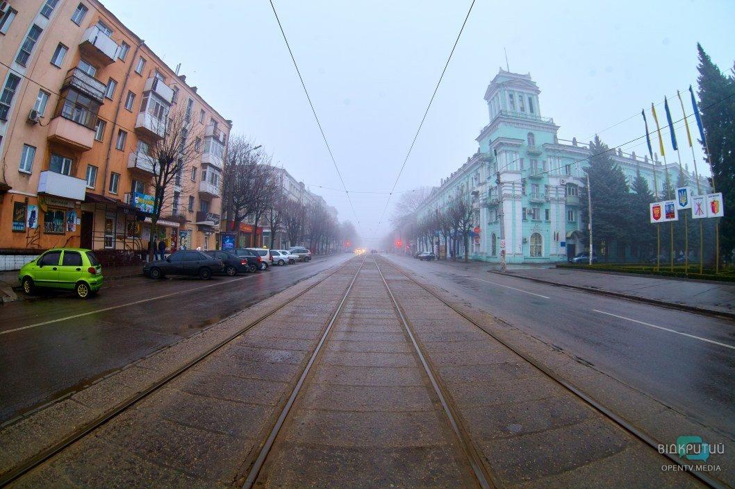 Красивый город в тумане