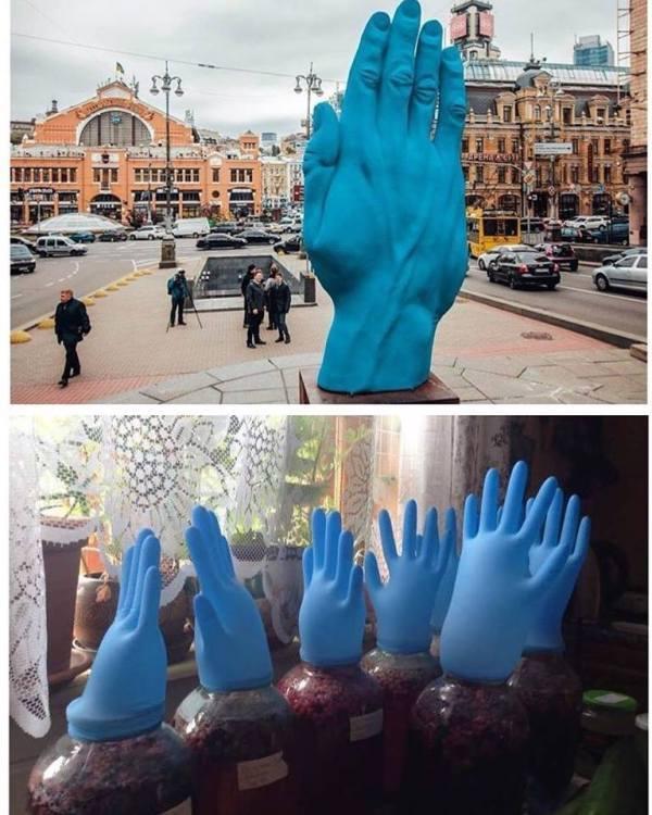 """Фотожаба о """"Синей руке"""" от пользователей соц.сетей."""