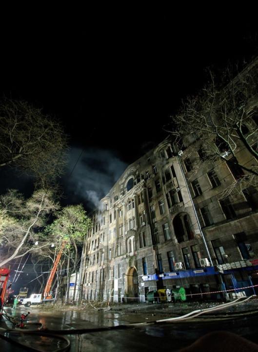 Пожар в Одессе: число пострадавших увеличилось до 29, пропавших - 14