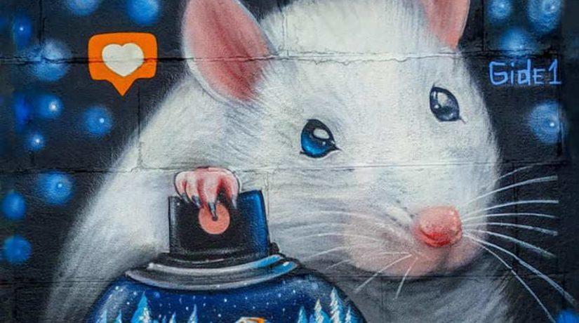 "Символ 2020 на Набережной Днепра: Белая Крыса ""поселилась"" на мурале  (ФОТО)"