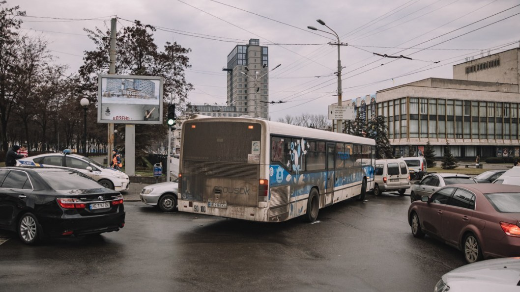 Утреннее ДТП при участии автобуса
