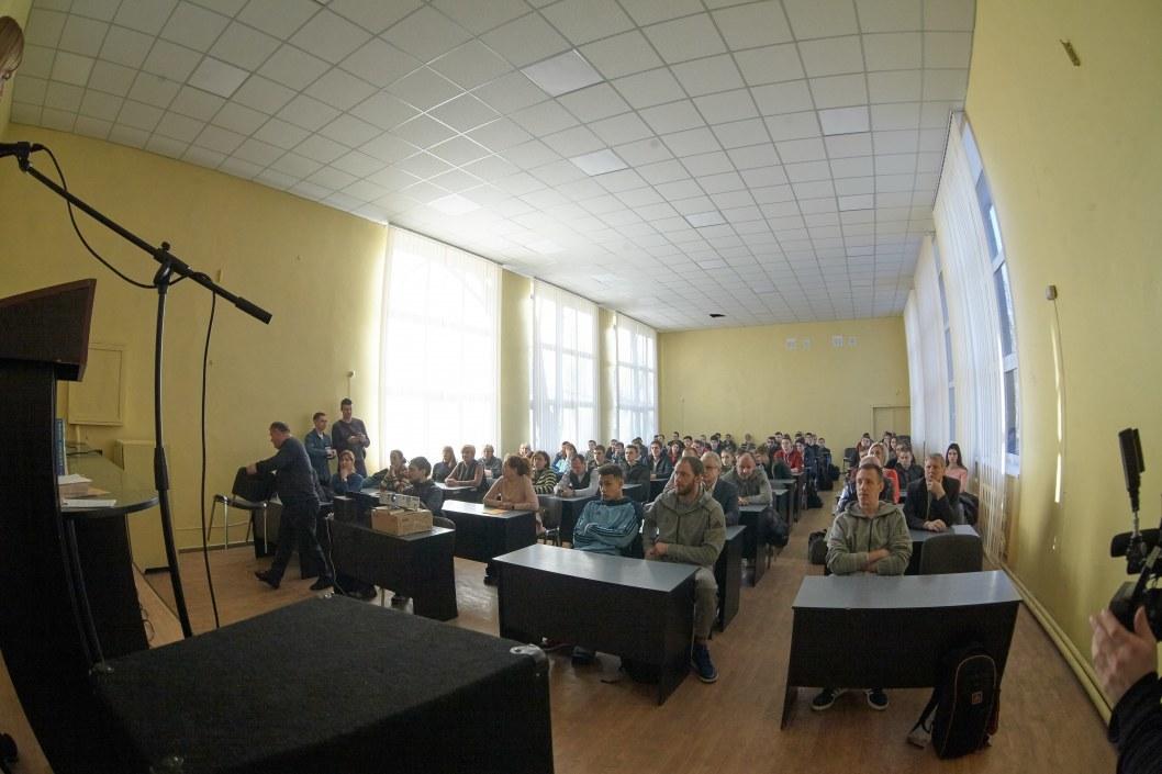Гости на праздновании 128-й годовщины со дня создания игры баскетбол в Приднепровской государственной академии физической культуры и спорта.