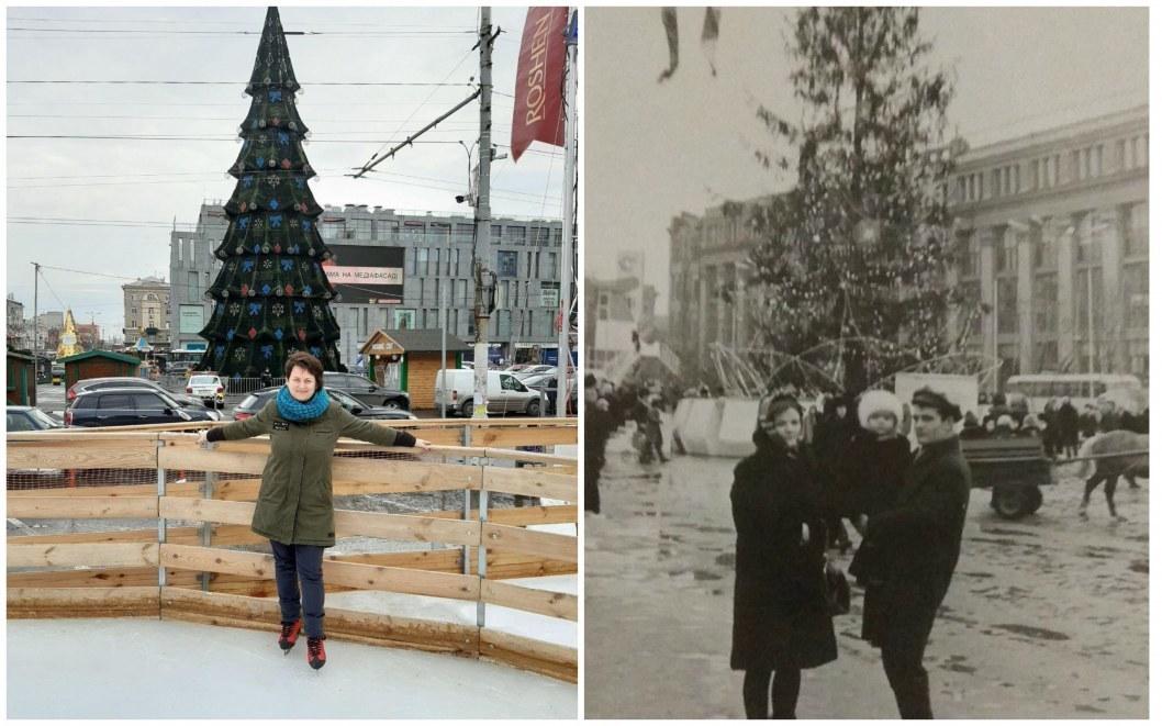 Новогодние елки в 2019-м и 1969-м годах.