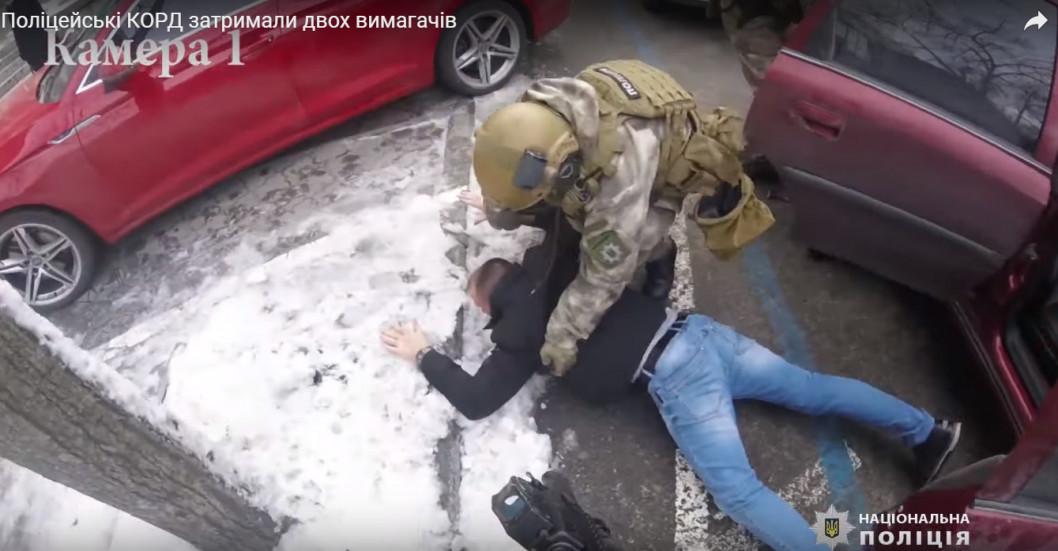Спецназ в деле: кого задержали вчера возле банка на Воскресенской (ВИДЕО)