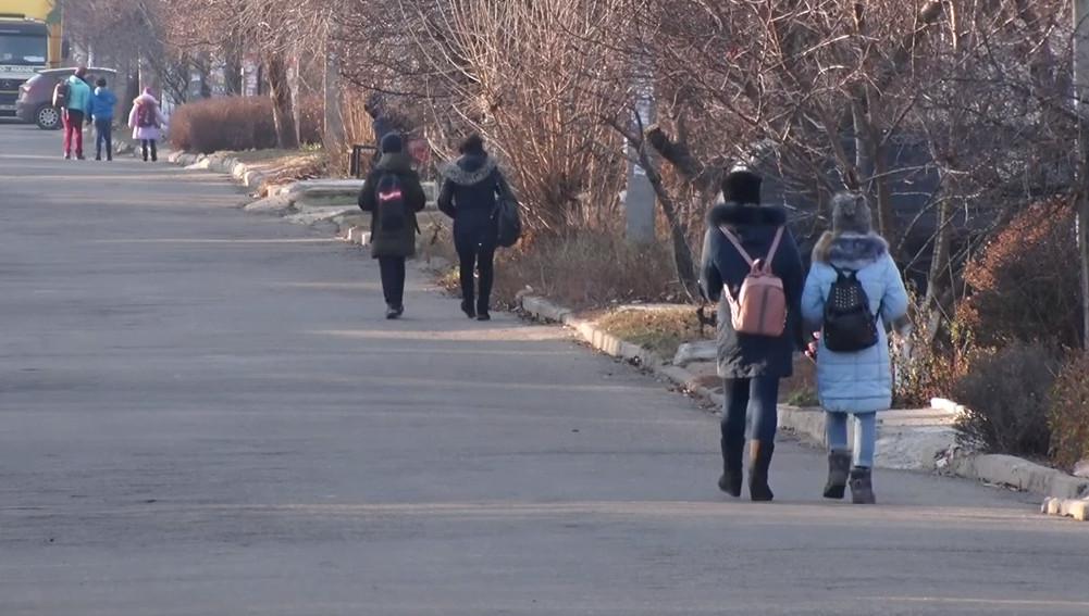 ВІДЕО: В селищі Мирному школярі ходять на навчання по проїжджій частині