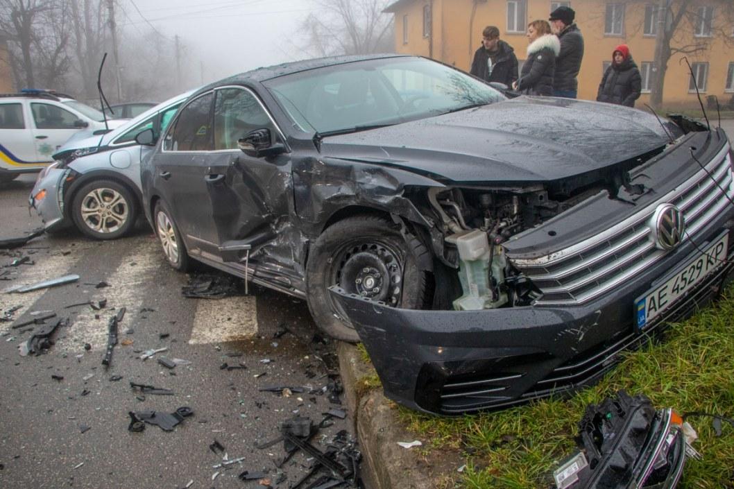 Повреждения у Volkswagen серьезные
