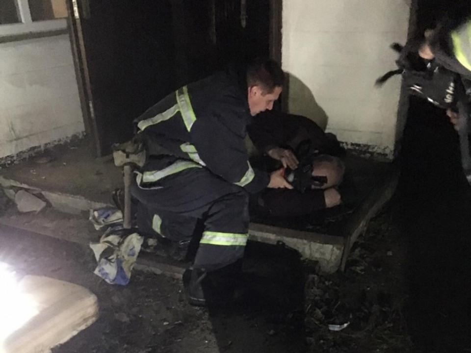 В пожаре пострадал мужчина