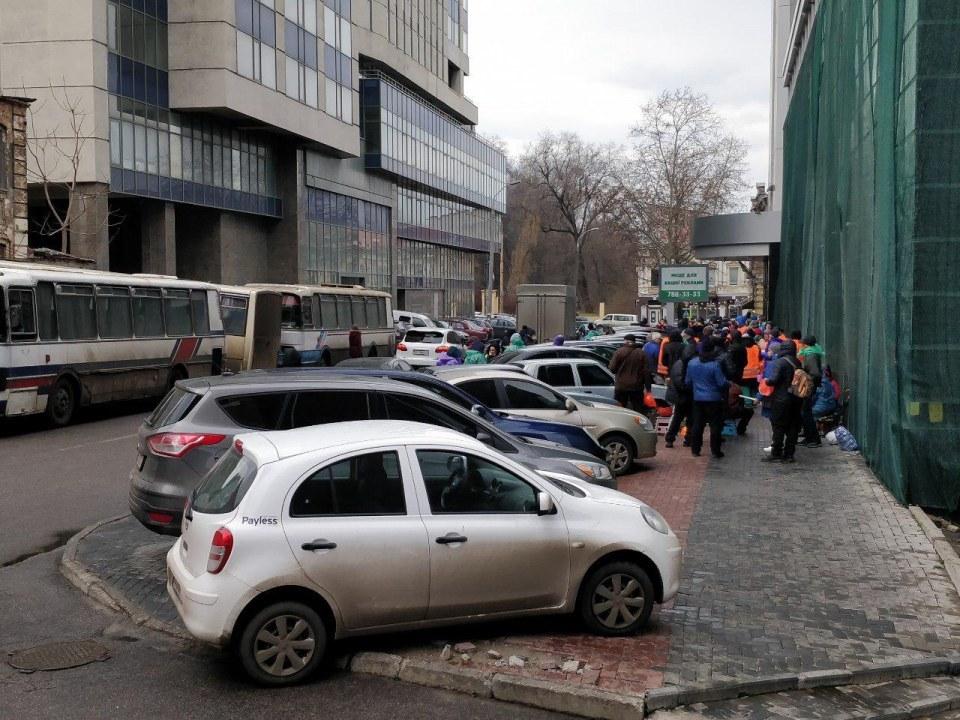 Митинг около ПриватБанка на Медицинской в Днепре