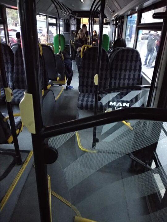 Новый комфортабельный автобус на 38-м маршруте.