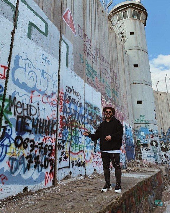 Стена с граффити в Вифлееме