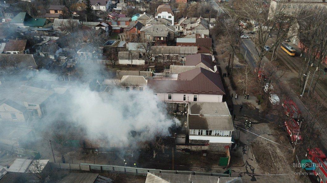 Пожар в центре Днепра: стало известно, что произошло на Антоновича (ФОТО, ВИДЕО)