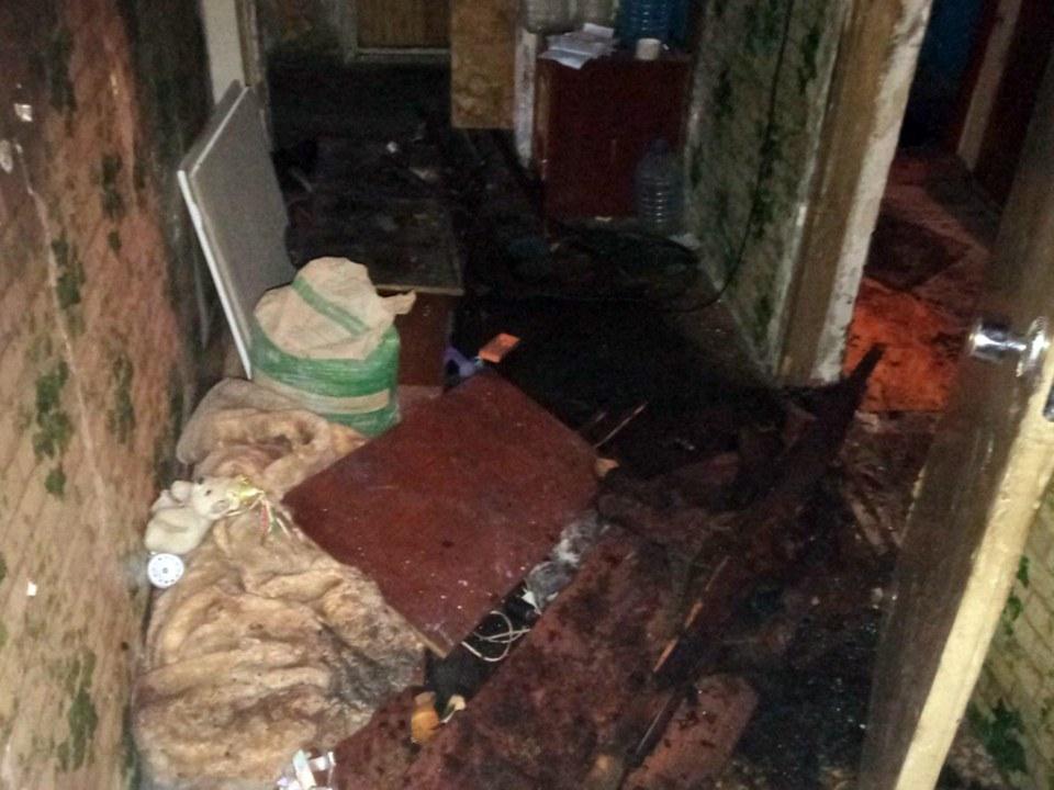 Сгоревшая комната в квартире