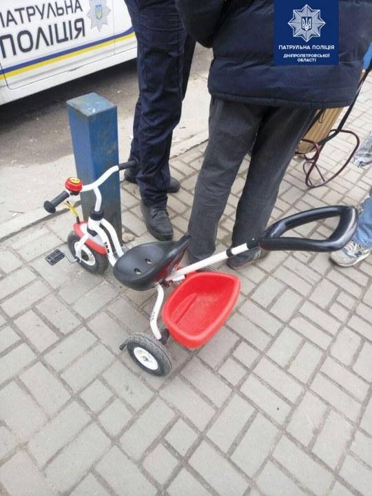 Детская коляска-велосипед
