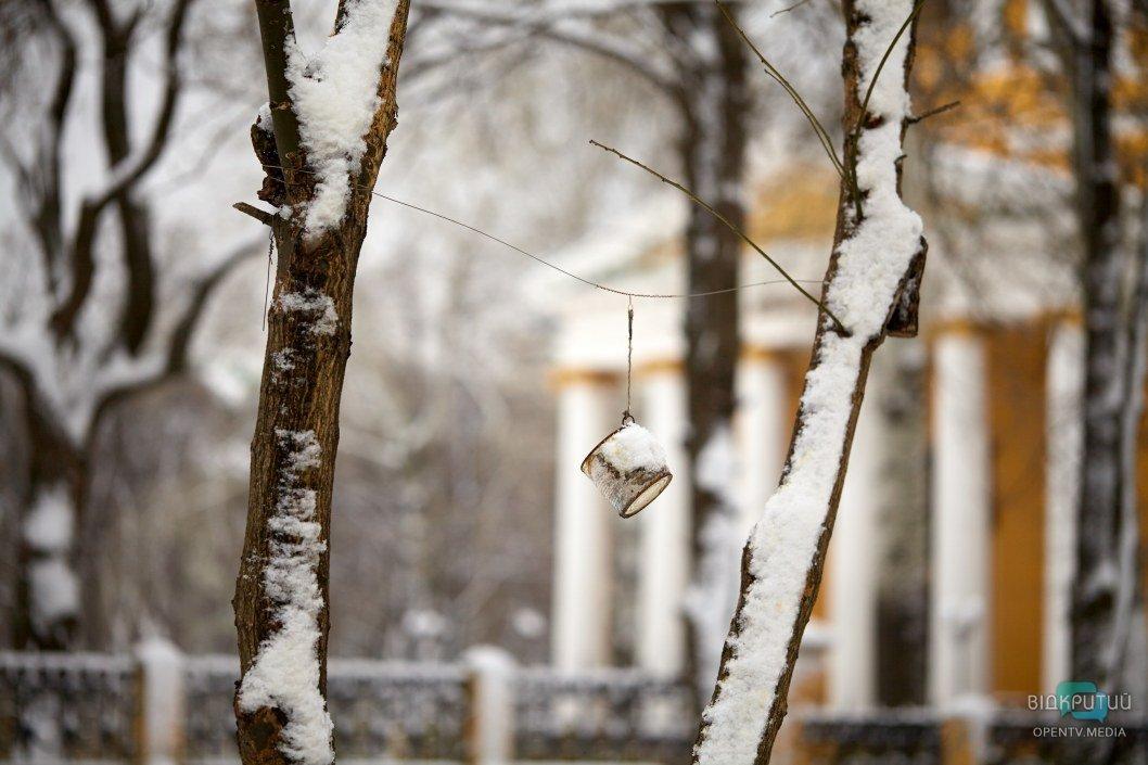 Снег кружится: как выглядит утренний Днепр сегодня во время снегопада (ФОТО, ВИДЕО)