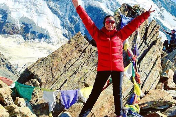 """Марина Филатова рассказала о том, как """"штурмует"""" высочайшую гору в Андах (ФОТО)"""