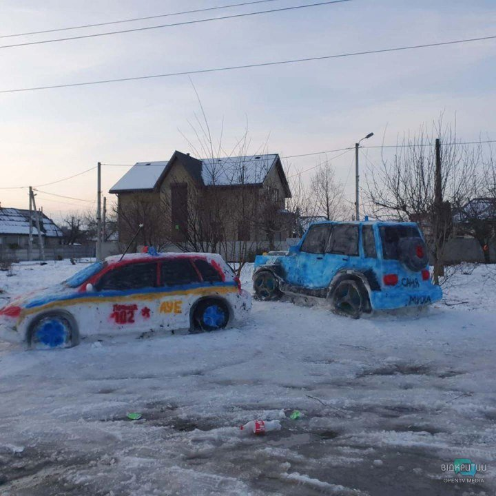 Снежный автопарк.