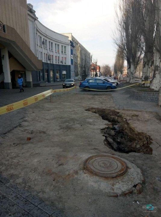 Обвал грунта на Столярова