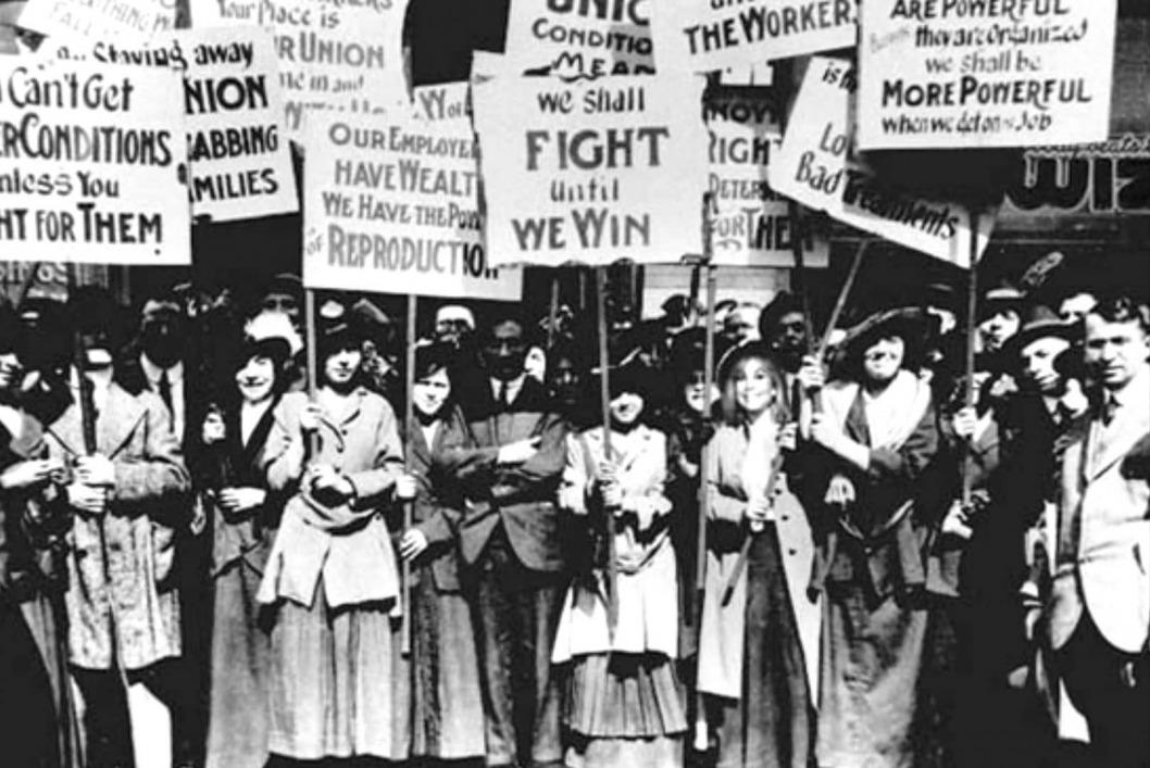 Митинг работниц 8 марта